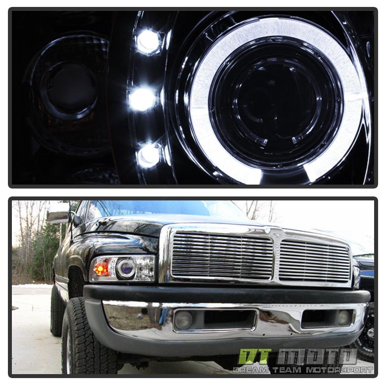 1994-2001 Dodge Ram 1500 1500 2500 LED Halo Projector