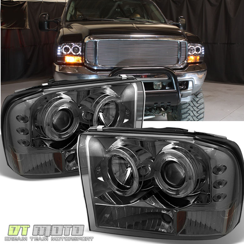 Smoked 99 04 F250 F350 SuperDuty Excursion Projector LED