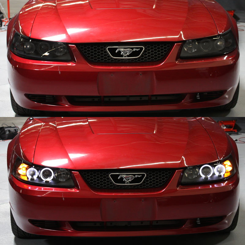 1999 2004 ford mustang gt cobra svt halo led black smoke. Black Bedroom Furniture Sets. Home Design Ideas