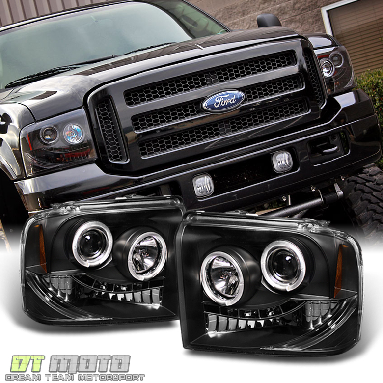 Black 2005 2006 2007 Ford F250/F350/F450 Superduty LED