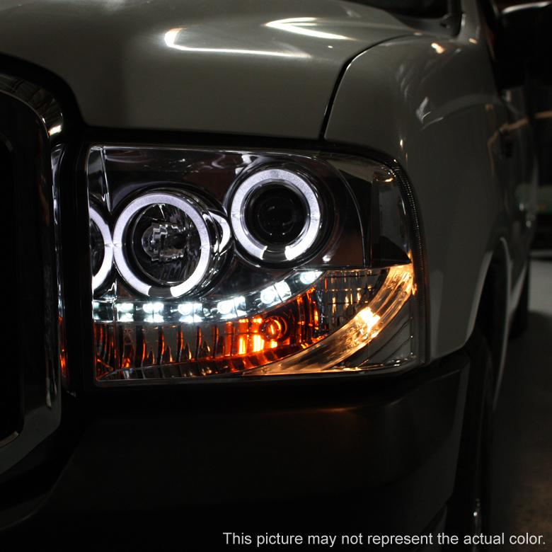 Smoke 2005-2007 Ford F250 F350 Superduty LED Halo
