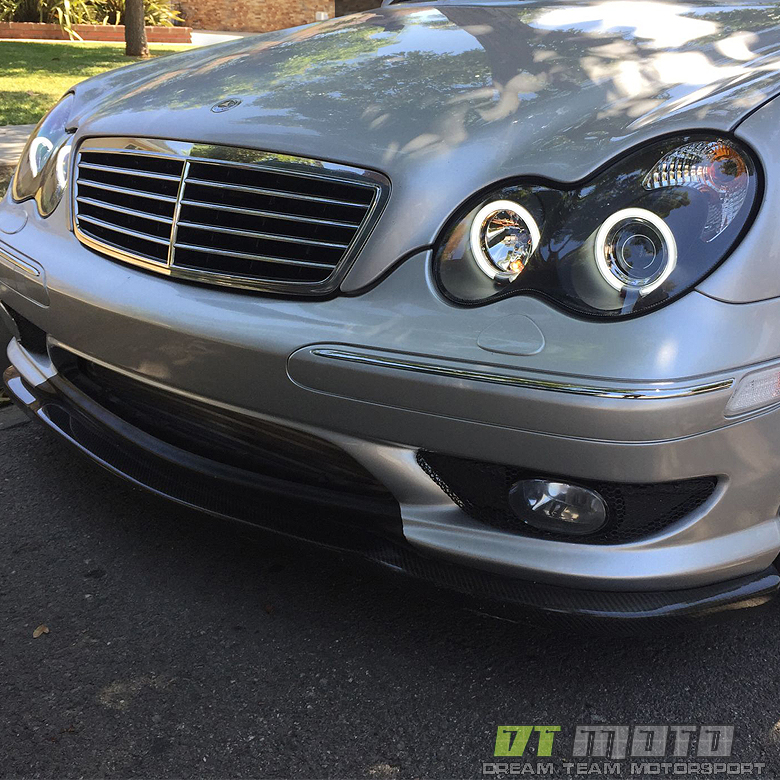 Black 2001 2007 mercedes benz w203 c230 c240 c320 ccfl for Mercedes benz headlight lens