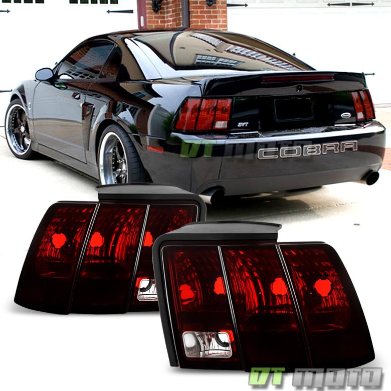 1999 2004 ford mustang blk tinted tail lights rear brake. Black Bedroom Furniture Sets. Home Design Ideas