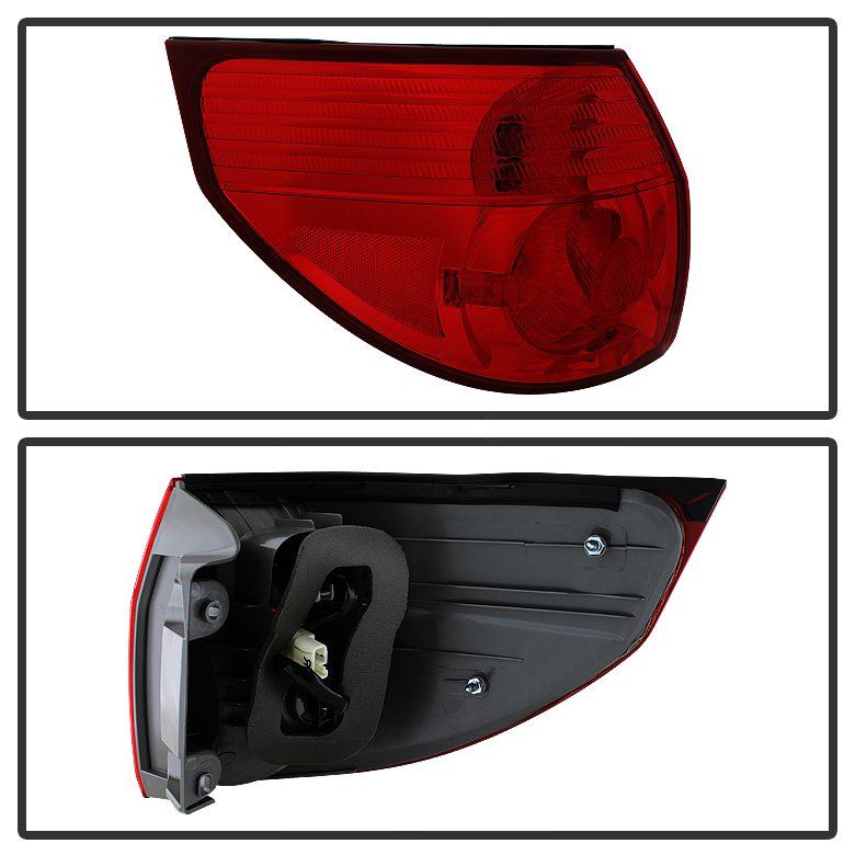 2006 2010 toyota sienna outer rear brake tail lights stop lamps left driver side. Black Bedroom Furniture Sets. Home Design Ideas