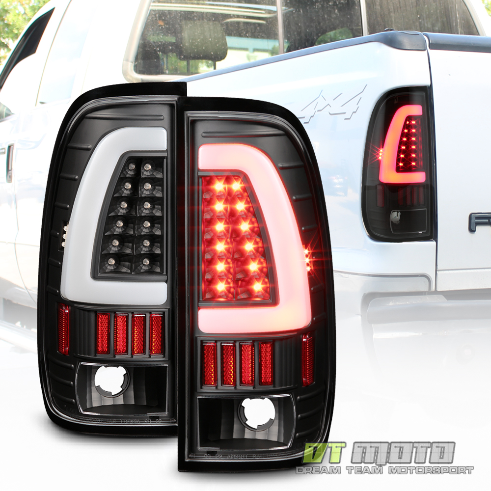 black 1997 2003 ford f150 led light bar tail lights brake lamps ebay. Black Bedroom Furniture Sets. Home Design Ideas
