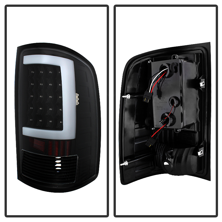 Black 2007-2013 GMC Sierra 1500 2500HD 3500HD LED Tube
