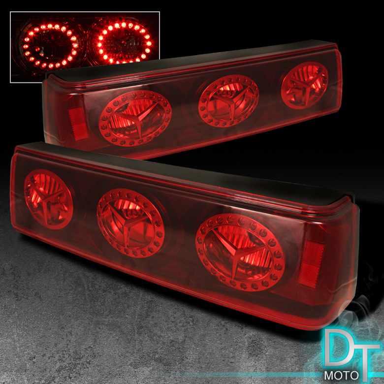 87 93 ford mustang led rims rear tail brake lights lamps. Black Bedroom Furniture Sets. Home Design Ideas