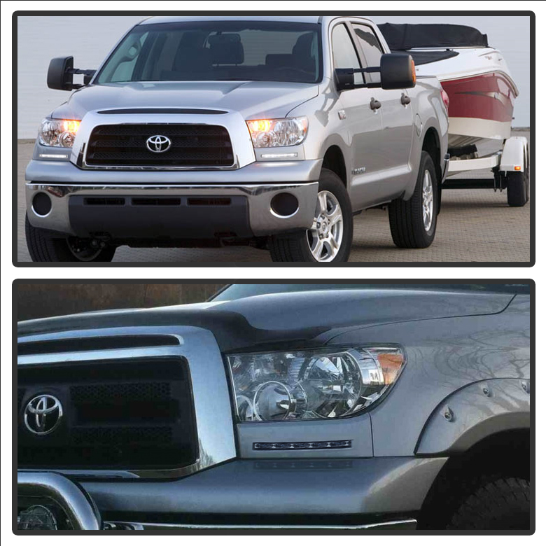 2007-2013 Toyota Tundra    Sequoia Front Bumper Built-in Led Fog Lights Kit