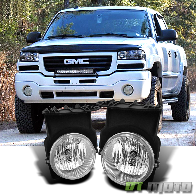 2003 2004 2005 2006 Gmc Sierra Bumper Fog Lights Left