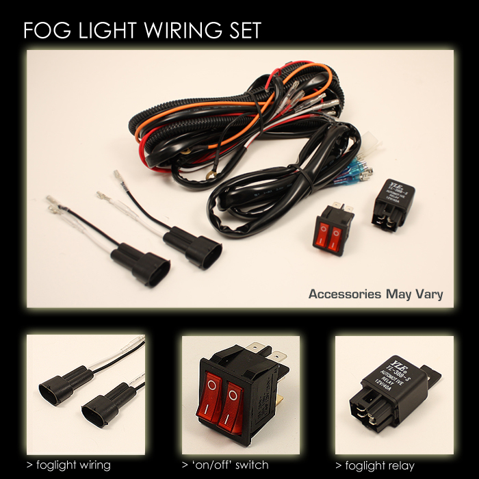 20022008 Dodge Ram 1500 LED Halo Projector Fog Lights Lamps w – Dodge Ram Fog Light Wiring Harness