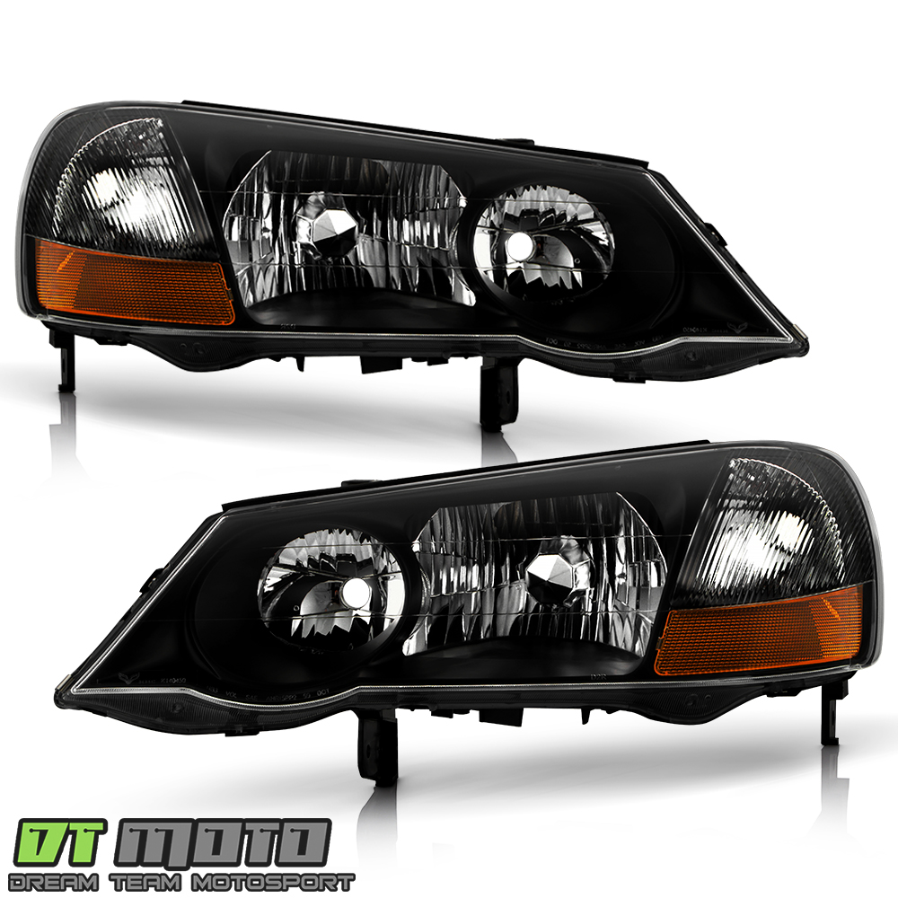 Black 2002-2003 Acura TL HID Xenon Model Headlights
