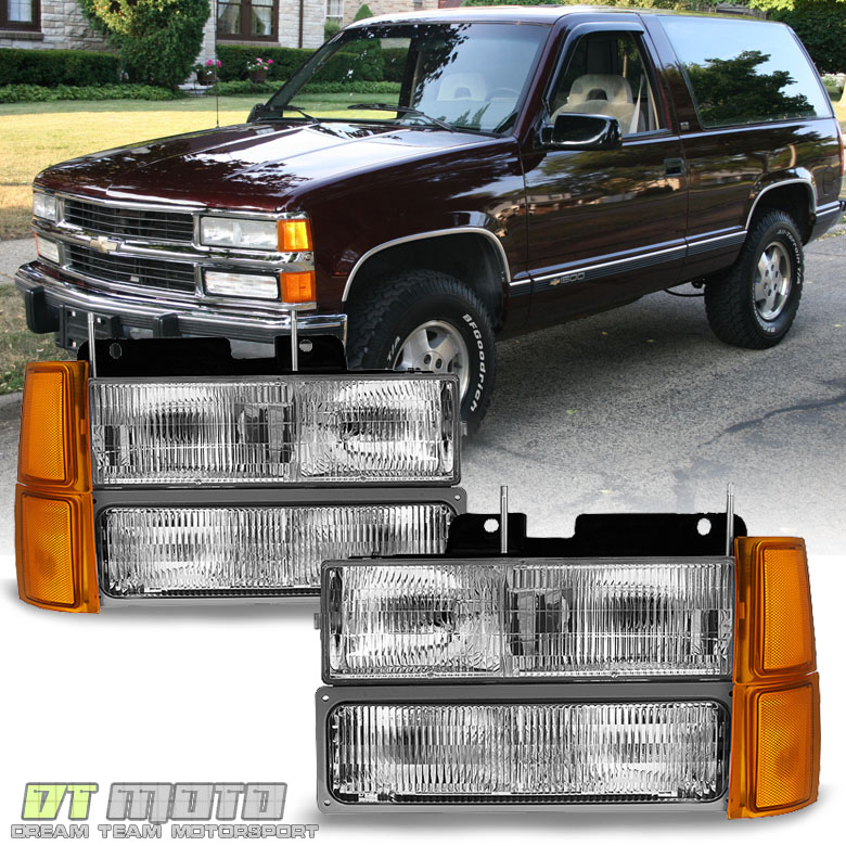 1994-1998 Chevy Silverado Suburban Tahoe Headlights+Corner