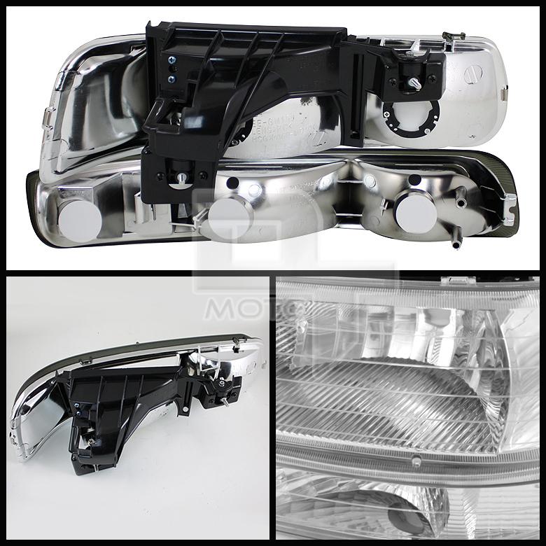 2002 Chevrolet Silverado 3500 Crew Cab Transmission: Clear 99-02 Silverado 00-06 Tahoe Suburban Headlights W