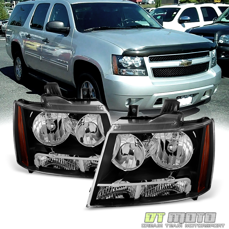 Black 2007-2014 Chevy Suburban 1500 2500 Tahoe Avalanche