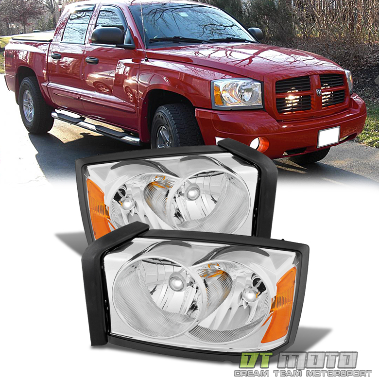 2005-2007 Dodge Dakota Replacement Headlights Headlamps