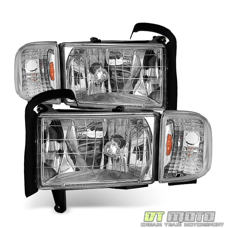 Replacement 1994-2001 Dodge Ram 1500 2500 3500 Headlights