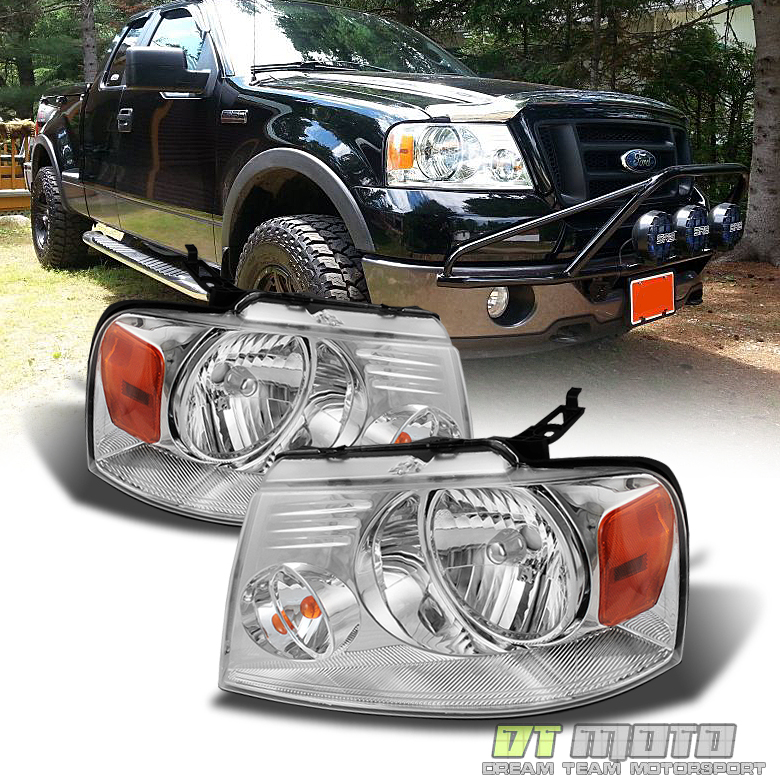 2004-2008 Ford F-150 F150 Pickup Headlights Headlamps Left