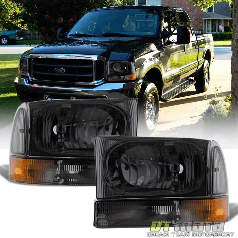 1999-2004 Ford F250 F350 F450 Super Duty Smoke Headlights