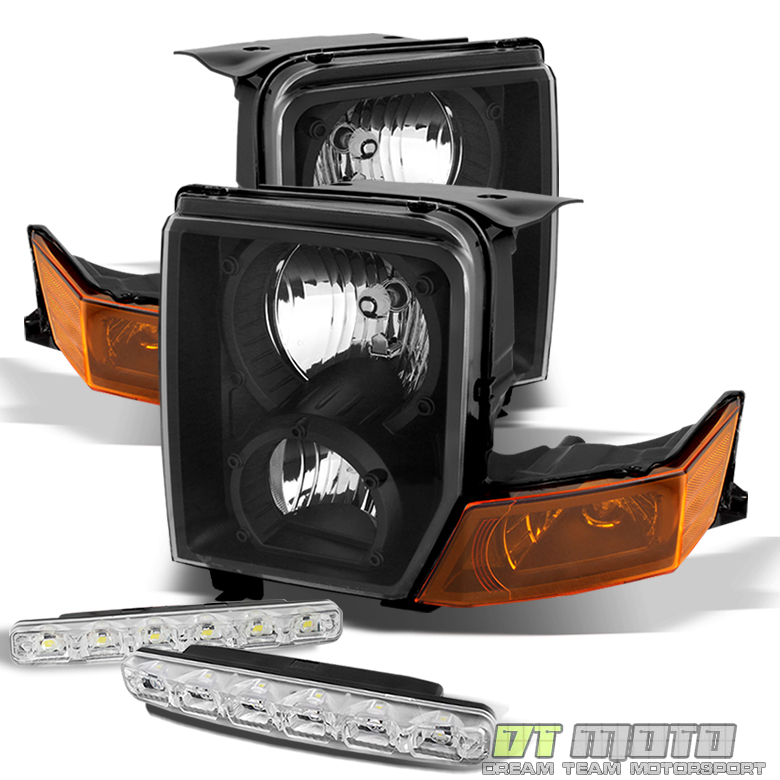 Blk For 2006 2010 Jeep Commander Replacement Headlights