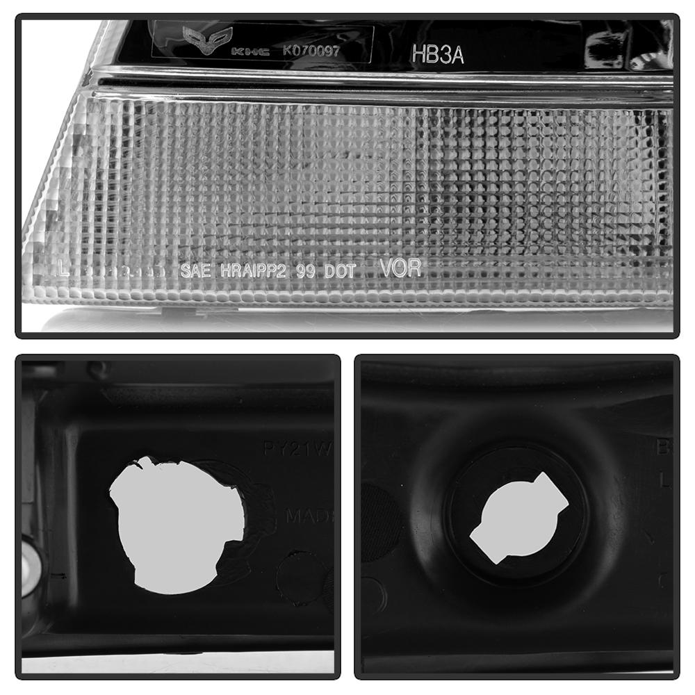 1999 2004 jeep grand cherokee replacement headlights headlamps left right 99 04 ebay