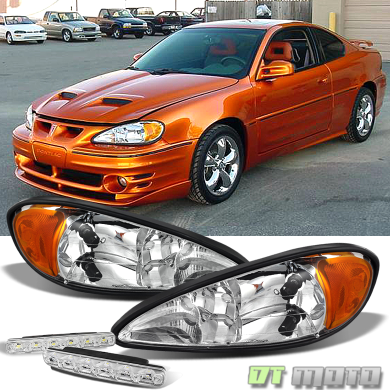for 99 05 pontiac grand am replacement amber headlights. Black Bedroom Furniture Sets. Home Design Ideas