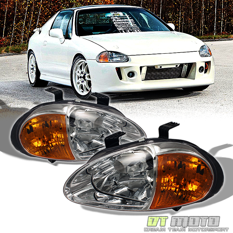 1993-1997 Honda Del Sol 2in1 Crystal Head Lights W/JDM