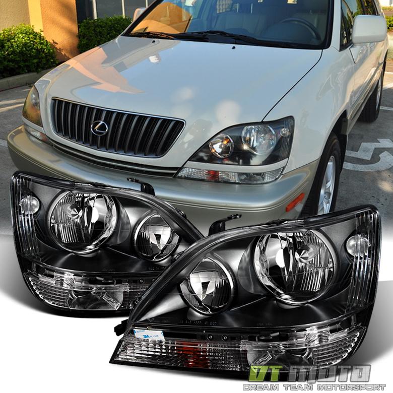 2002 Lexus 300 Rx: Black 1999-2003 Lexus RX300 RX-330 Headlights Headlamps