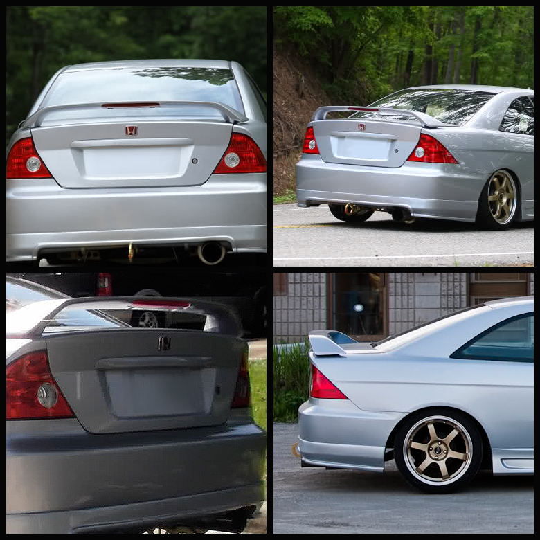 01 05 Honda Civic 2dr Coupe Factory Oem Style Spoiler
