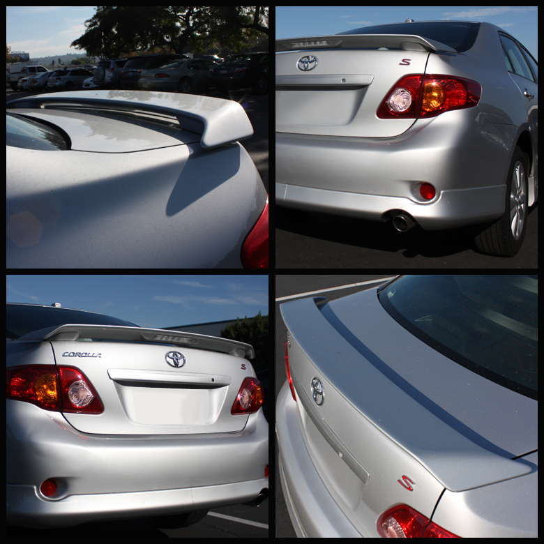 2009 2013 Toyota Corolla Sport Trunk Spoiler Wing With Led
