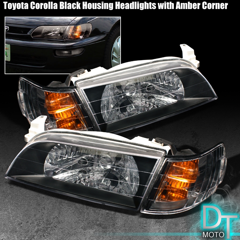 93 97 Toyota Corolla Head Lights Jdm Amber Corner Lamps