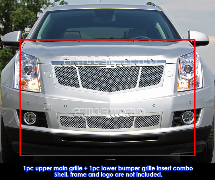 Fit 2010 2015 Cadillac SRX Stainless Steel Mesh Grill