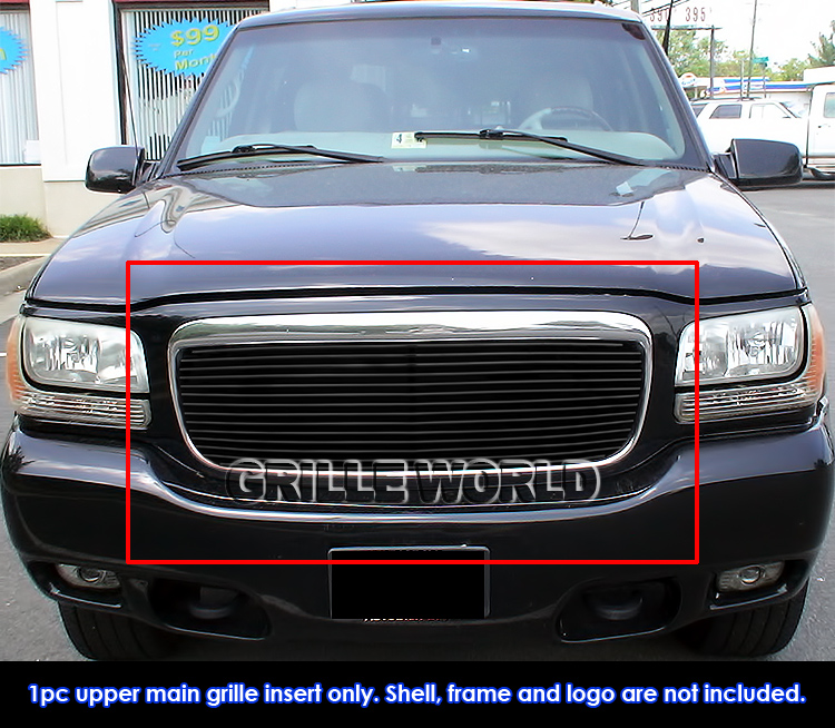 Buy Used Cadillac Escalade: For 1999-2001 Cadillac Escalade Black Billet Premium Grille Grill Insert