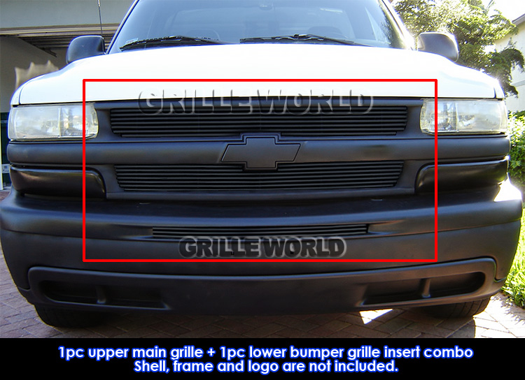 for 1999 2002 chevy silverado 00 06 suburban tahoe black billet grill pack ebay