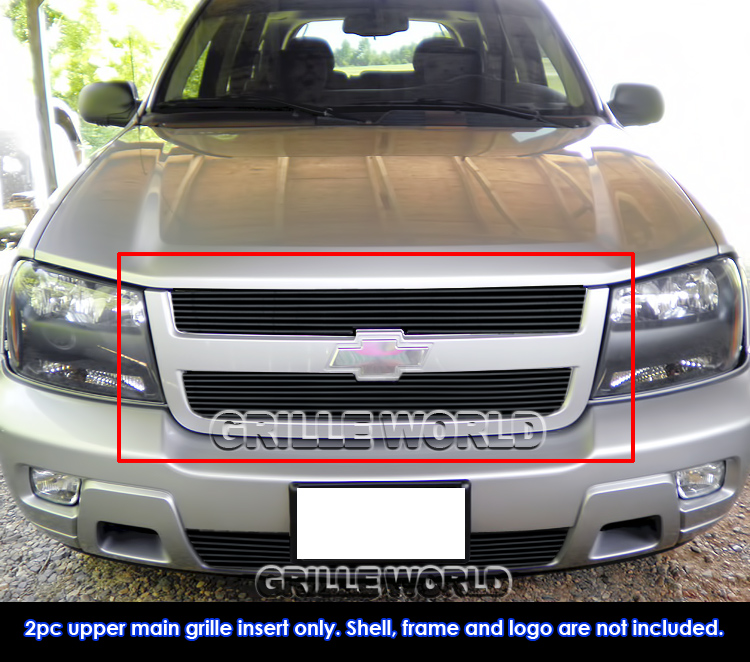For 2006-2008 Chevy Trailblazer LT Black Billet Grille