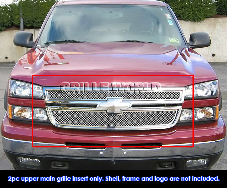 for 06 chevy silverado ss 1500 05 06 2500 3500 mesh grille ebay. Black Bedroom Furniture Sets. Home Design Ideas