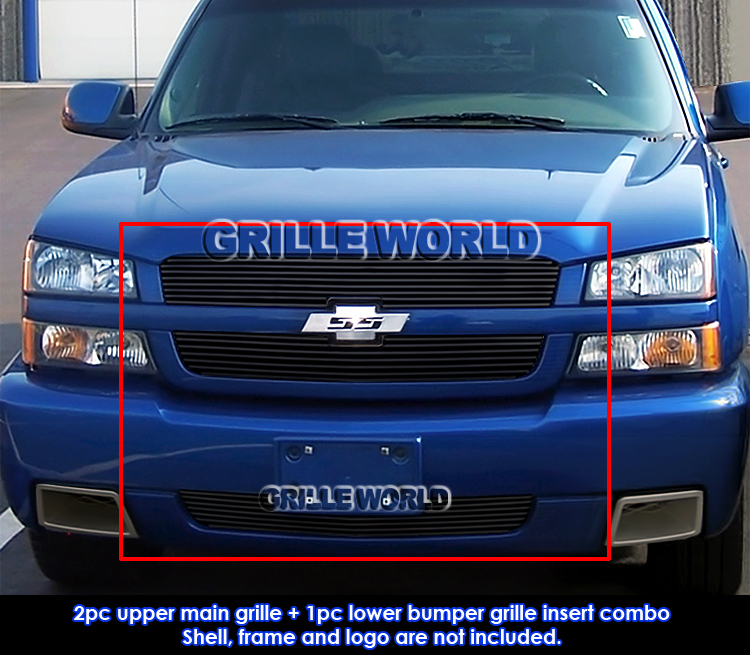 2005 Silverado 1500 >> For 2003-2005 Chevy Silverado 1500 SS Black Billet Grille ...