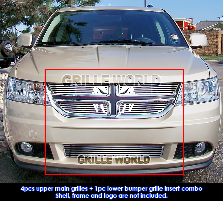 For 2011-2013 Dodge Journey SE Symbolic Grille Insert Combo