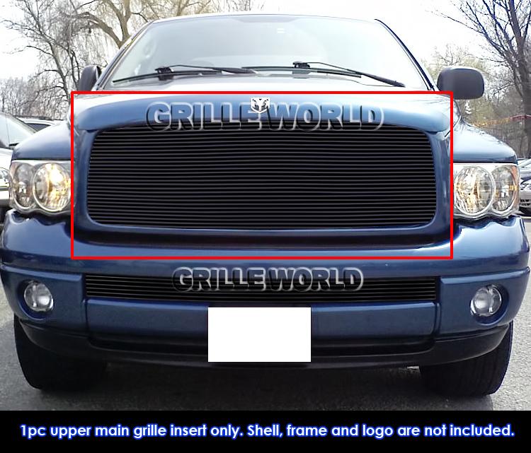 05 Dodge Ram: For 02-05 Dodge Ram 1500/2500/3500 Black Billet Grille