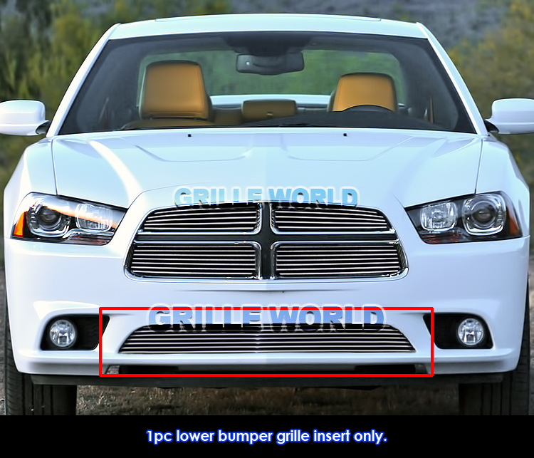 for 2011 2014 dodge charger bumper billet grille insert ebay. Black Bedroom Furniture Sets. Home Design Ideas
