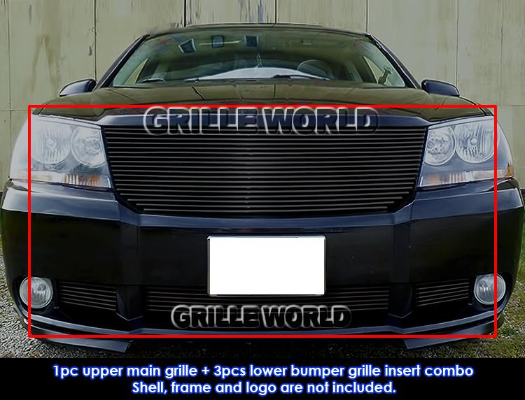 For 2007 2010 Dodge Avenger SXT Black Billet Grille Grill