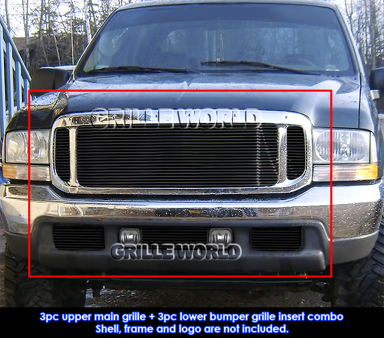 99 F150 Black: 99-04 Ford F250/F350/2000-04 Excursion Black Billet Grille