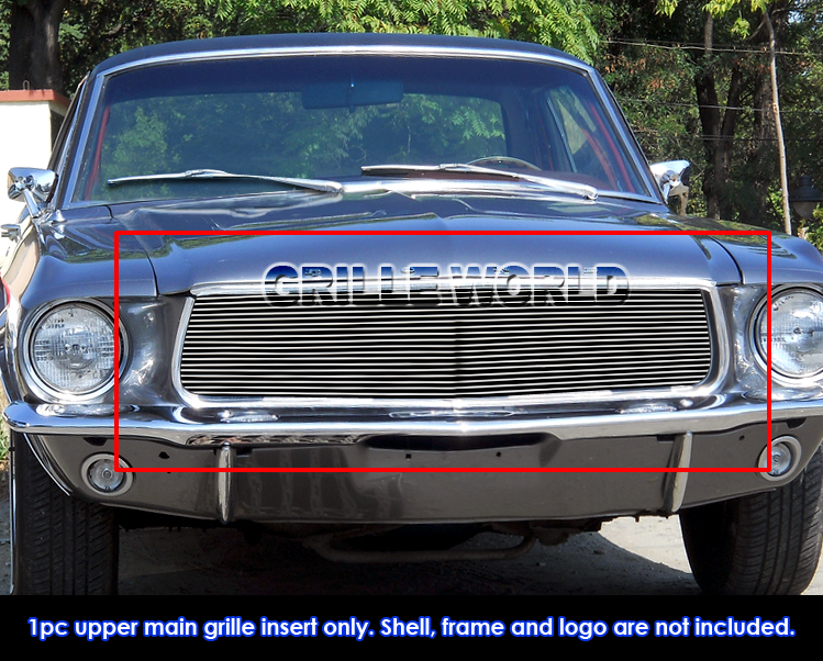 For 1967 1968 Ford Mustang Billet Grille Grill Insert Ebay