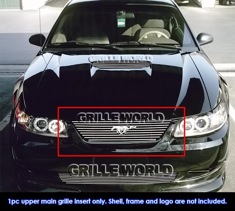 99 Ford Mustang: For 99-04 Ford Mustang V6/V8 GT Stainless Billet Grille