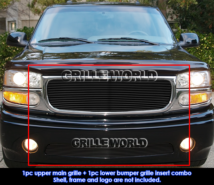 for 2001 2006 gmc yukon denali black billet grille grille. Black Bedroom Furniture Sets. Home Design Ideas