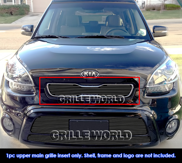 2012 Kia Soul Exterior: For 2012-2013 Kia Soul Black Billet Grille Inserts