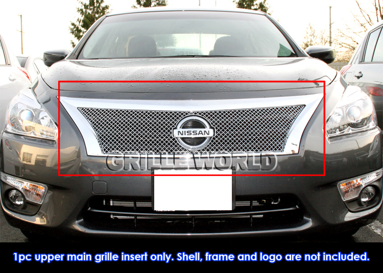 fits 2014 nissan altima stainless steel x mesh grille insert. Black Bedroom Furniture Sets. Home Design Ideas