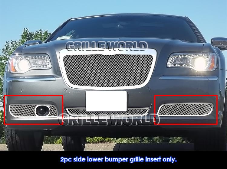 2011 2014 chrysler 300 300c fog light stainless steel mesh grille grill insert ebay