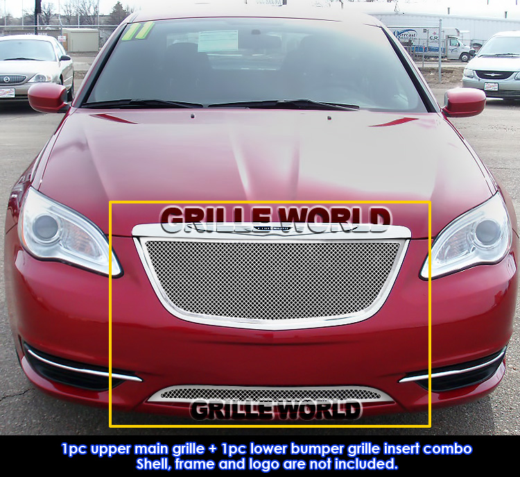 2011 2014 Chrysler 300 300c Fog Light Stainless Steel Mesh: For 2011-2014 Chrysler 200 Stainless Steel Mesh Grille