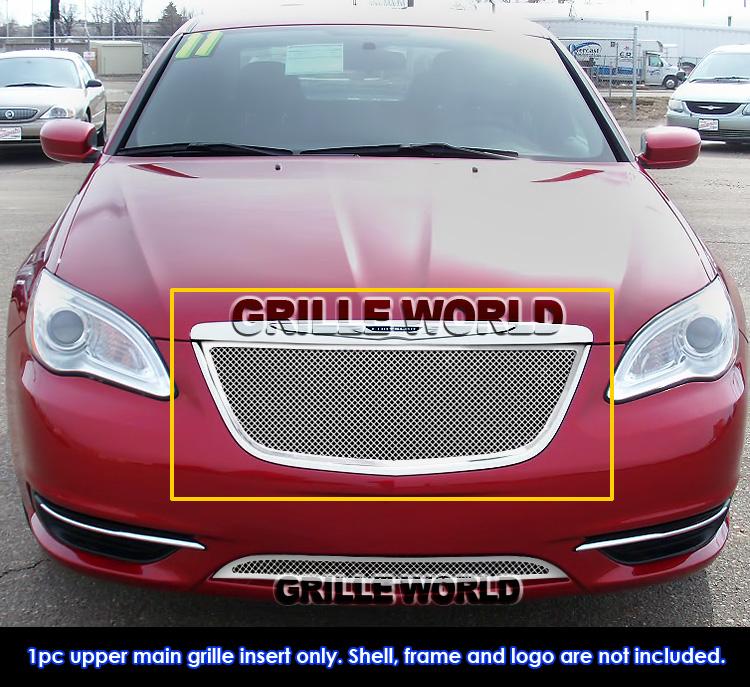 2012 Chrysler 200 Grill >> For 2011-2014 Chrysler 200 Stainless Steel Mesh Grille Grill Insert | eBay