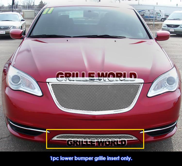 For 2011-2014 Chrysler 200 Bumper Stainless Steel Mesh